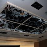 Гравированный витраж - потолочный плафон