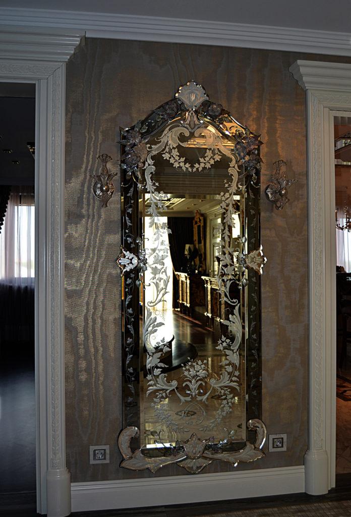 Зеркало гравированное