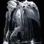 Дракон Жаждущий - гравированное стекло