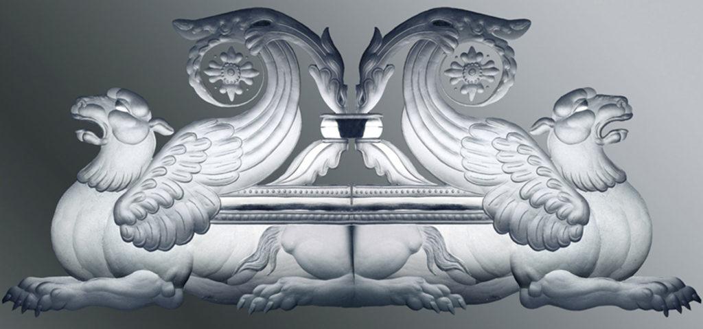 Фрагмент каминного зеркала
