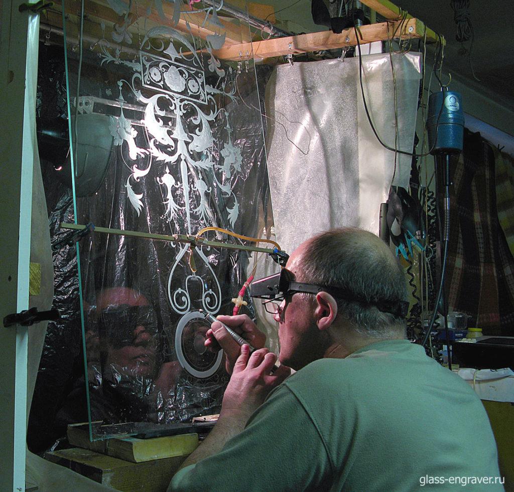 Ручная гравировка по стеклу