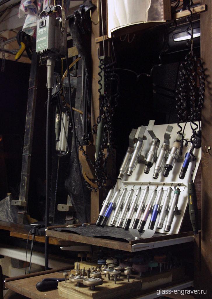 Инструмент для гравировки по стеклу бормашиной