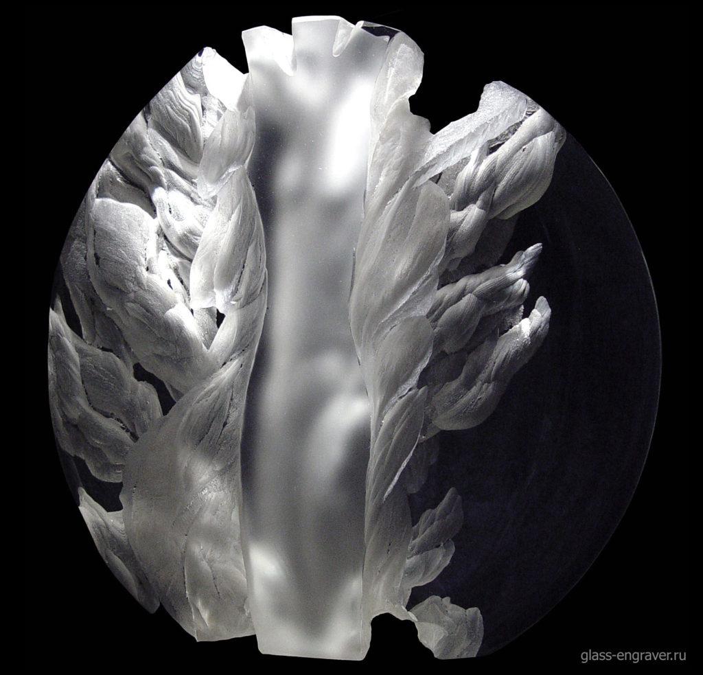 Дриада - гравированный диск оптического стекла