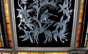Гравировка на стекле – уникальный метод создания объемных рисунков